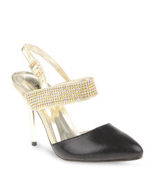 Plum Belle Heels Gold