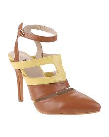 PLUM Belda High Heels Tan/Yellow