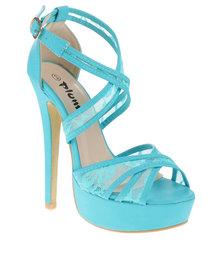 PLUM Aeryn Peep-Toe Heels Blue
