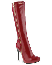 Plum Angel Boots Red