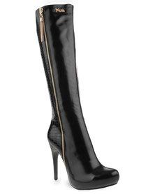 Plum Angel Boots Black