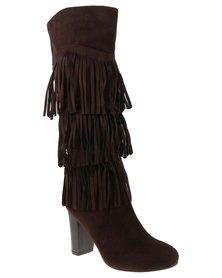 PLUM Arkansas Knee High Boot Brown