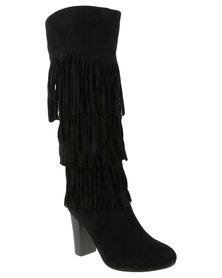 PLUM Arkansas Knee High Boot Black
