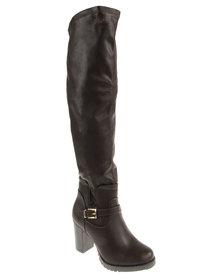 PLUM Missouri  Knee-High Boot Brown