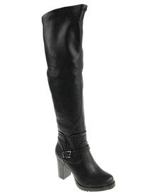 PLUM Missouri  Knee-High Boot Black