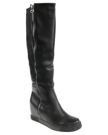 PLUM Montana Knee-High Boot Black