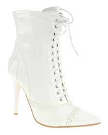 PLUM Lola2 Ankle Boot White