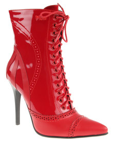 PLUM Lola2 Ankle Boot Red
