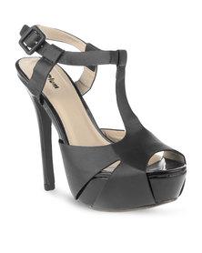 Plum Trida Platform Heels Black