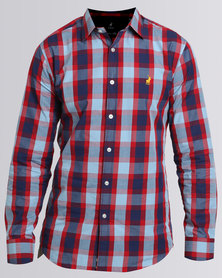 Polo Custom Fit Signature LS Shirt Red