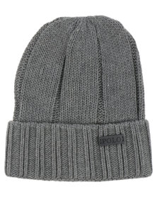 Polo Classic Ribbed Beanie with Cuff Grey