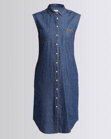 Polo Ladies Nina SS Denim Dress Medium Wash