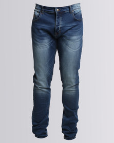 Polo Russel Skinny Stretch Denim Blue