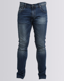 Polo Tyler Tapered Knitted Jog Jean Blue