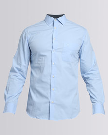 Polo Mens Relaxed Fit Work Shirt Sky Blue