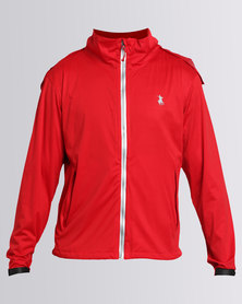 Polo Sport Mens Golf Rain Jacket Red