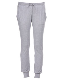 Poppy Divine Cuff Pants Grey