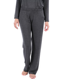 Poppy Divine Let's Lounge Long Pants Charcoal