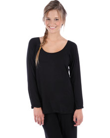 Poppy Divine Let's Lounge Top Black