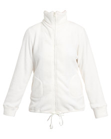 Poppy Divine Snuggly Jacket Ivory
