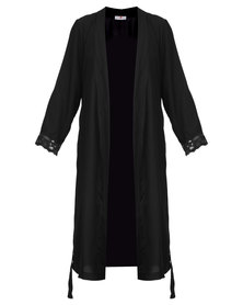 Poppy Divine Rayon Gown Black