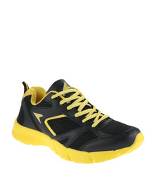 Power Performance Men's Basic Runner Shoes Black/Yellow