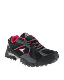 Power Performance Treck Hiking Shoes Black
