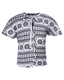 Precioux Trendy Poncho Knit Top Multi