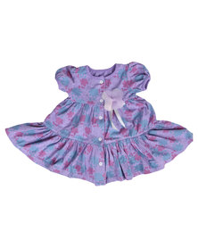 Precioux Tiered Baby Doll Dress Purple