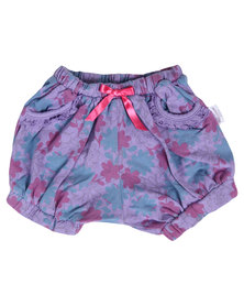 Precioux Floral Bloomer Shorts Purple