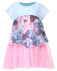 Precioux Rose Apron Dress Multi-Coloured