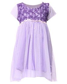 Precioux Petal Baby Doll Dress Purple