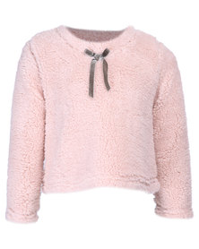 Precioux Fluffy Warm Winter Top Pink