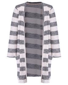 Precioux Pocket Long Length Cardigan Grey