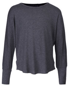 Precioux Long Sleeve Top Charcoal
