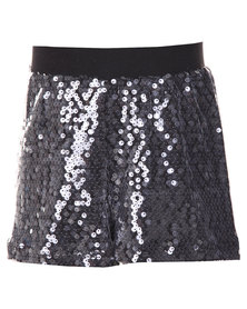 Precioux Sequin Shorts Black