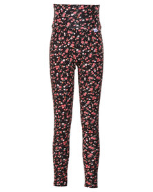 Precioux Floral  High Waist Pants Multi