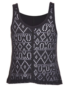 Precioux Reversible Top Black