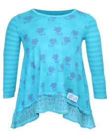 Precioux Jade Swing Top Blue