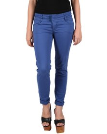 Pull-It Fitted Lycra Pants Blue