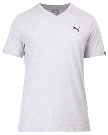 Puma ESS V-Neck Tee Grey