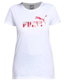 Puma Foil Logo Fill Tee White