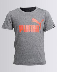 Puma Essential Large Logo Tee Grey