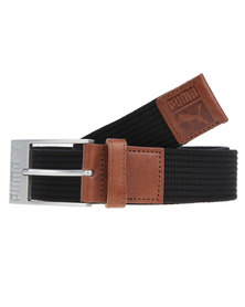 Puma Patch Webbing Belt Black