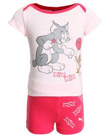 Puma FUN Tom & Jerry Jr. Set Pink