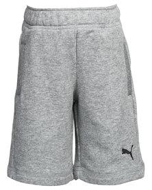 Puma Fun KA Sweat Bermuda Track Shorts Grey