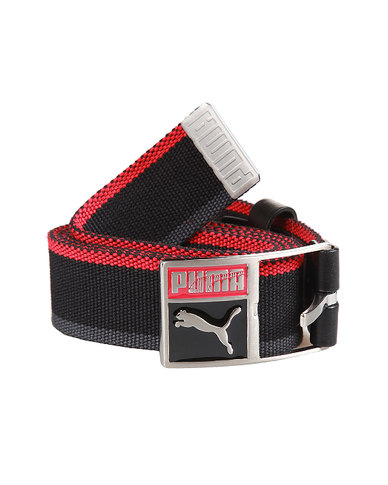 Puma Patch Webbing Belt Ribbon Red