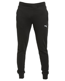 Puma ESS Tapered Cuffed Leg Slim Sweat Pants  Black