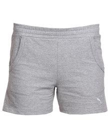"""Puma Essential Sweat 4"""" Shorts Grey"""