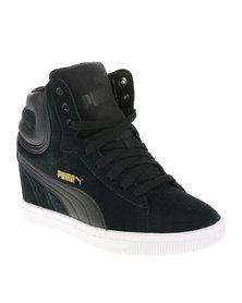 Puma Vikky Wedge Sneakers Black